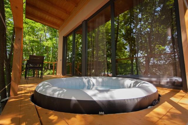 """FO 119    Dream Ferienhaus mitten """"im Wald"""" für Paaren mit Jakuzzi,Pool,Sauna für 2 Personen"""